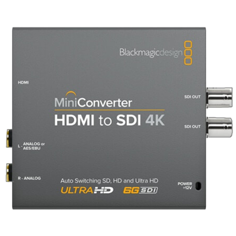 Convertisseur(s) Video Mini Converter HDMI to SDI 4K, BlackMagic
