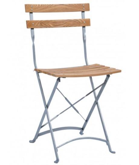 Chaise(s) Colombine en bois avec armatures en epoxy