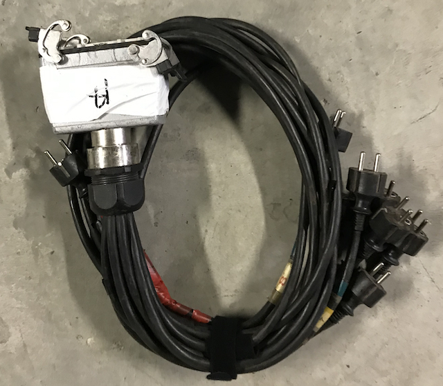Câble HARTING femelle / 8 pc16 mâle