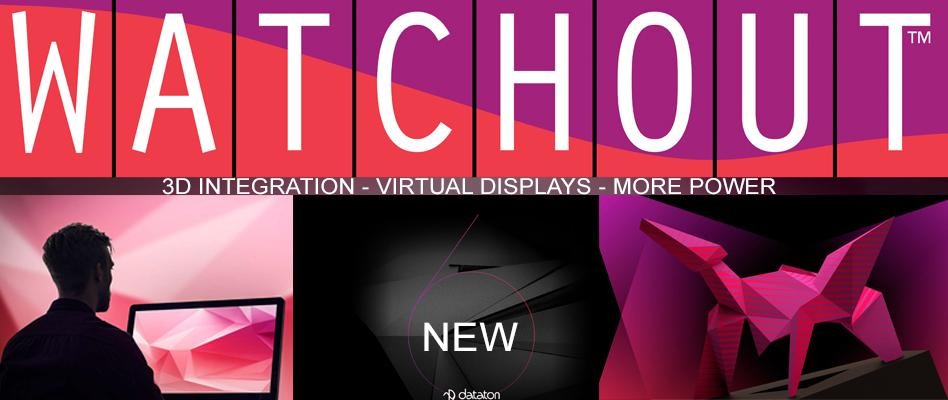 WATCHOUT, 3D integration Virtual displays