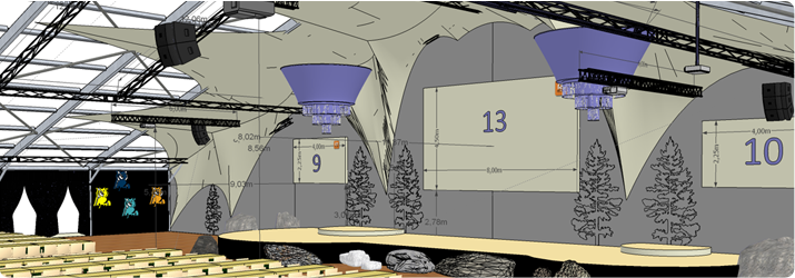 Plan d'illustrations 3D, RT-Events