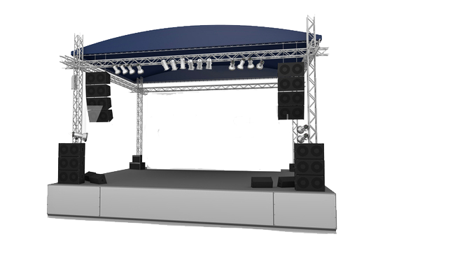 Scène, podium