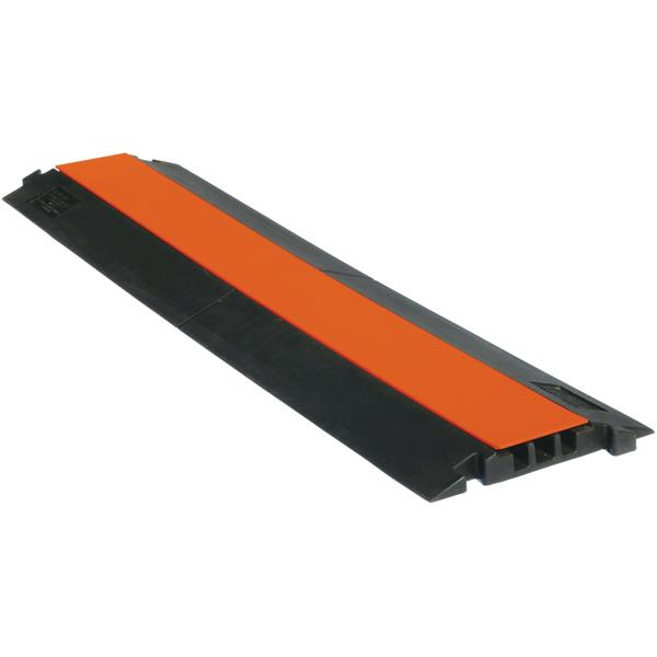 Passage de cable 3 canaux orange 20X20mm de 1m