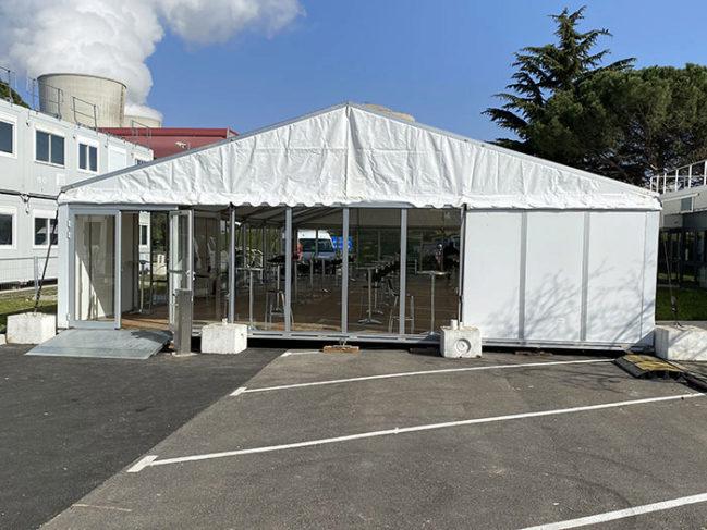 Salle de restauration éphémère CNPE CRUAS-MEYSSE