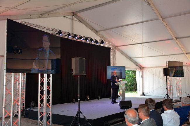 Inauguration du parc éolien de Planèze, CNR