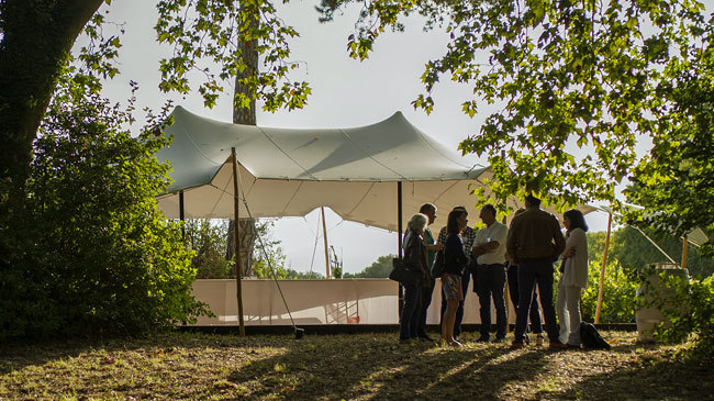 Tente nomade, Bambou
